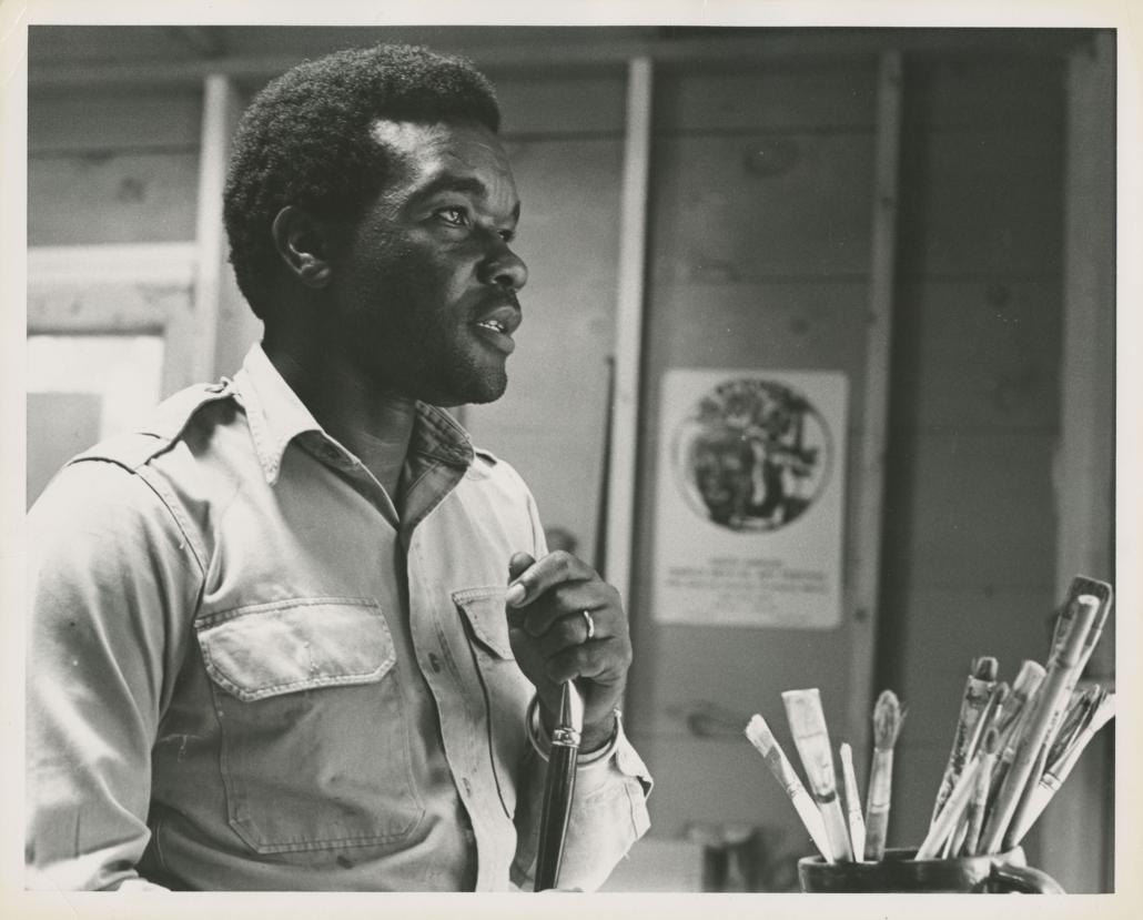David Driskell in Studio, 1966